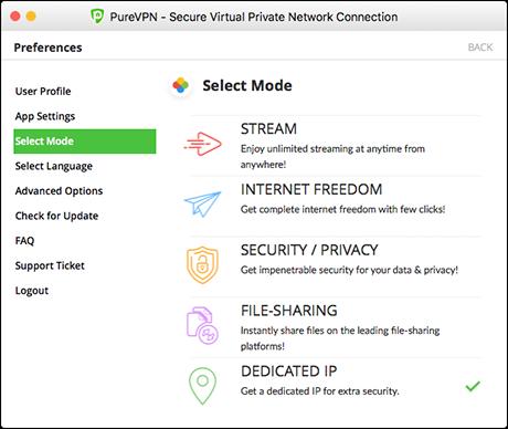 purevpn mac modes