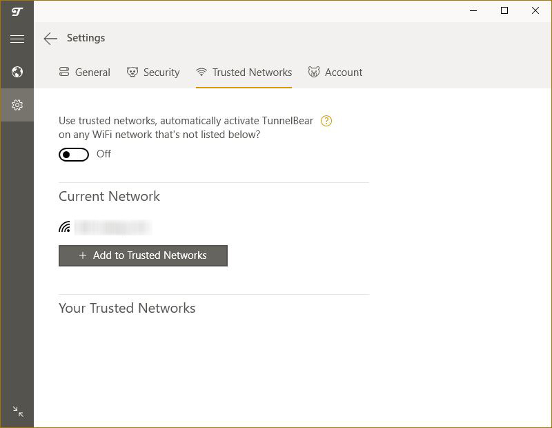 réseau de confiance tunnelbear