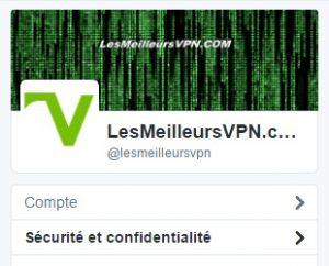 Confidentialité Twitter menu sécurité