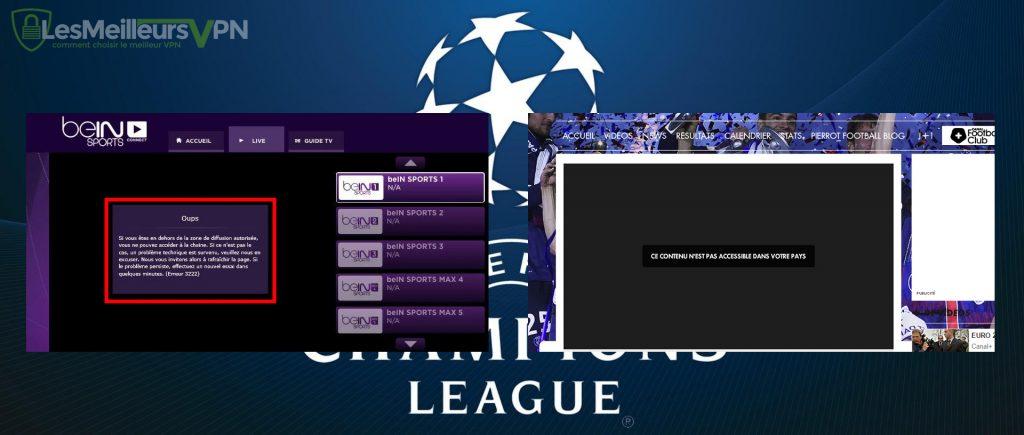 Debloquer et regarder ligue des champions avec un vpn