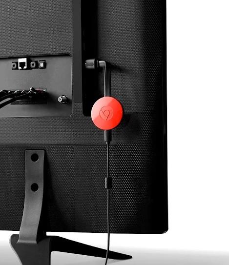 Google Chromecast avis - le bousin sur la télé