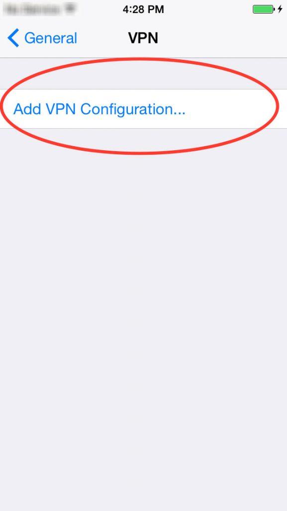 installation vpn iphone