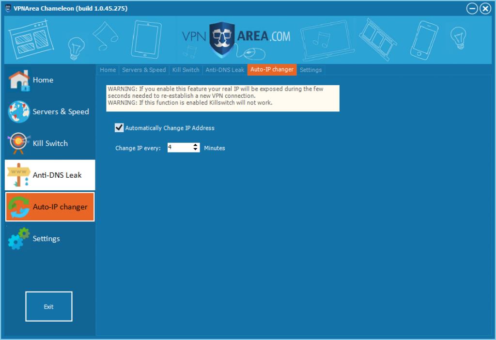 Avis VPNArea : changement ip avec vpn area