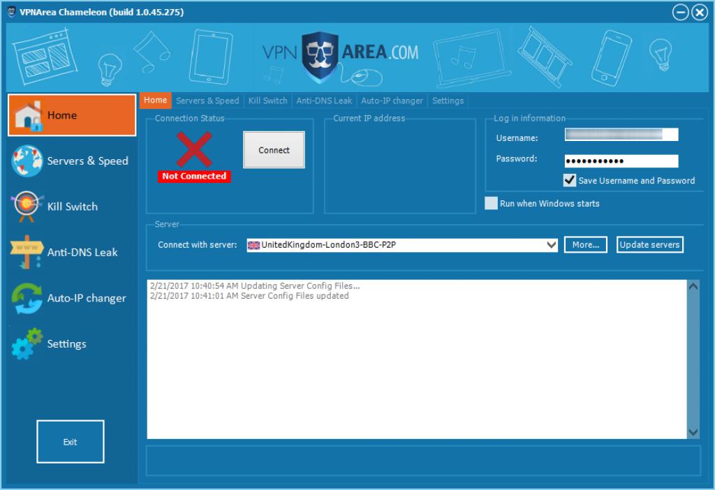Avis VPNArea : logiciel vpn area