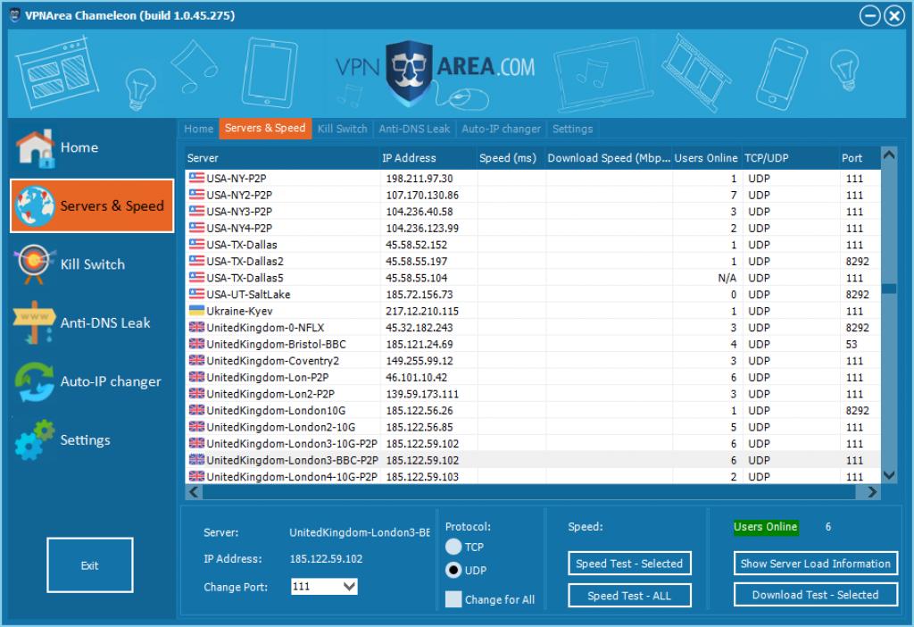Avis VPNArea : serveurs vpn area