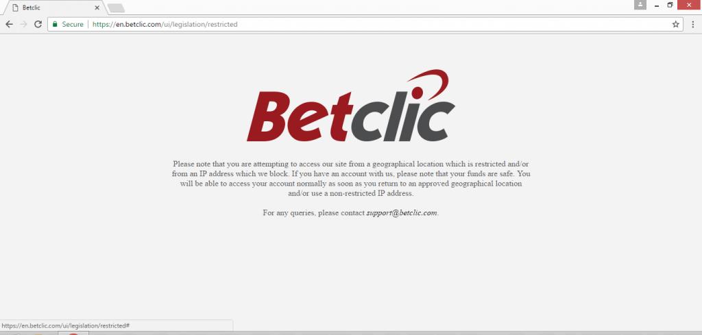 Besoin d'un VPN pour Betclic