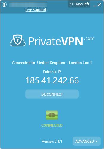 privatevpn connecte