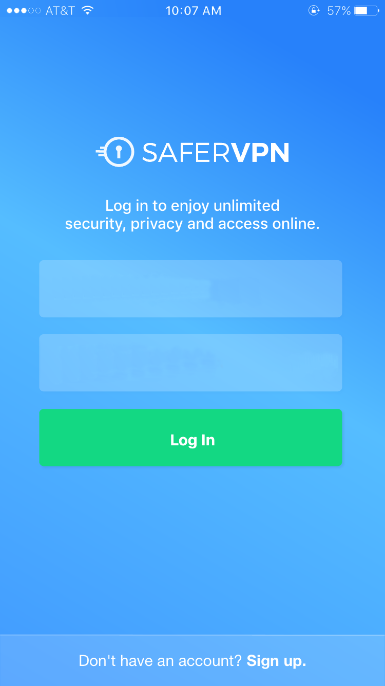 safervpn ios login