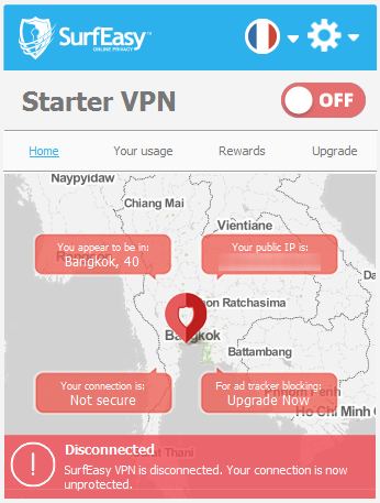 surfeasy vpn interface