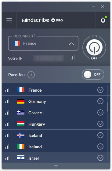 windscribe vpn deconnecte