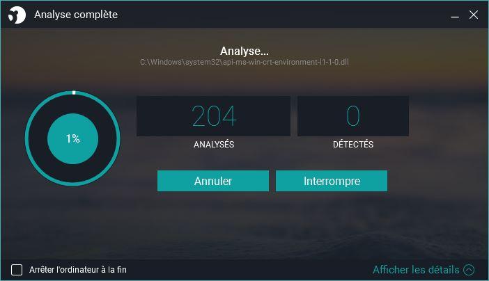 panda antivirus analyse complete