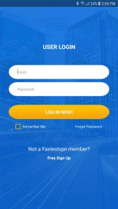 fastestvpn android login