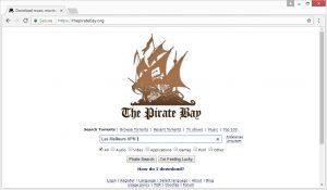 piratebays page d'accueil