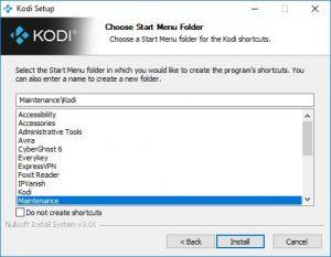 kodi fichier menu demarrer