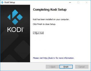 kodi finir installation