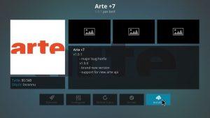 installer arte+7