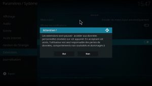notification sources inconnues-kodi